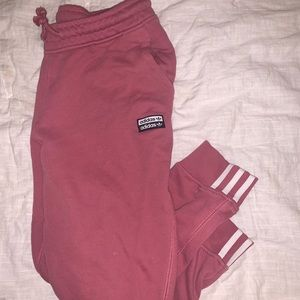 Pink Adidas Sweats - urban outfitters